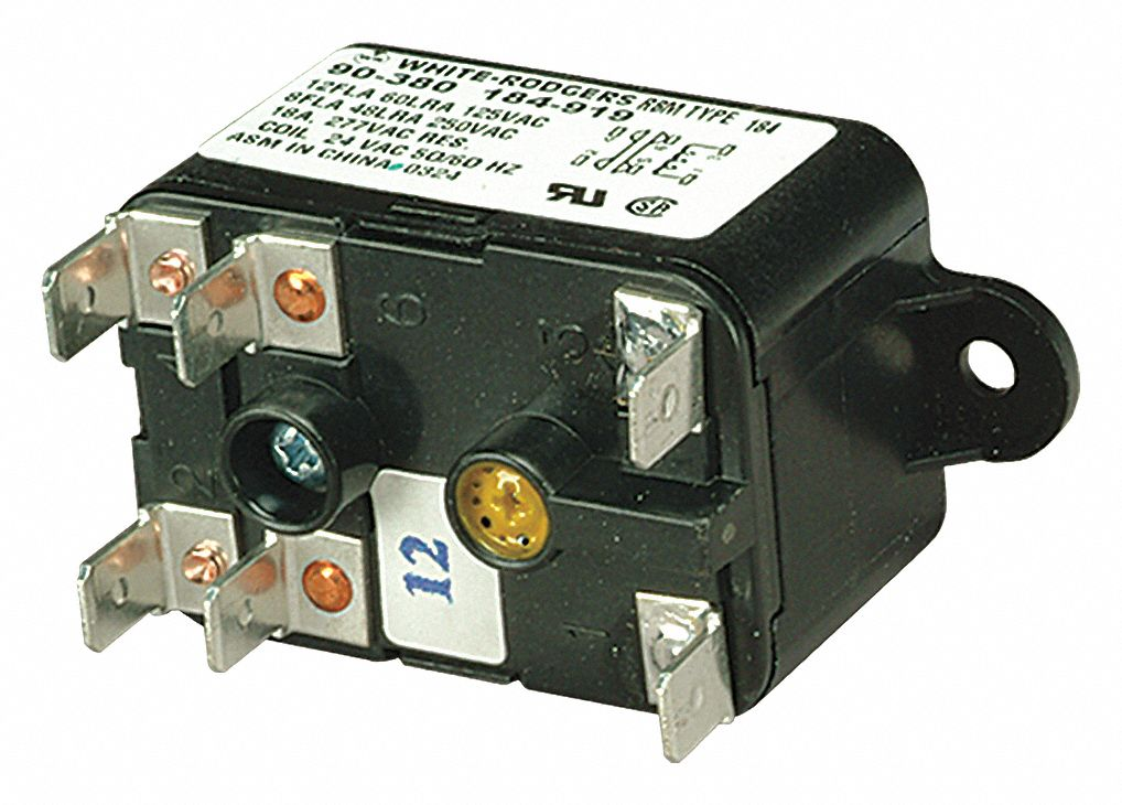 medium resolution of white rodgers relay fan 24 vac 1n185 90 380 grainger relay wiring diagram 90 380 heavy duty