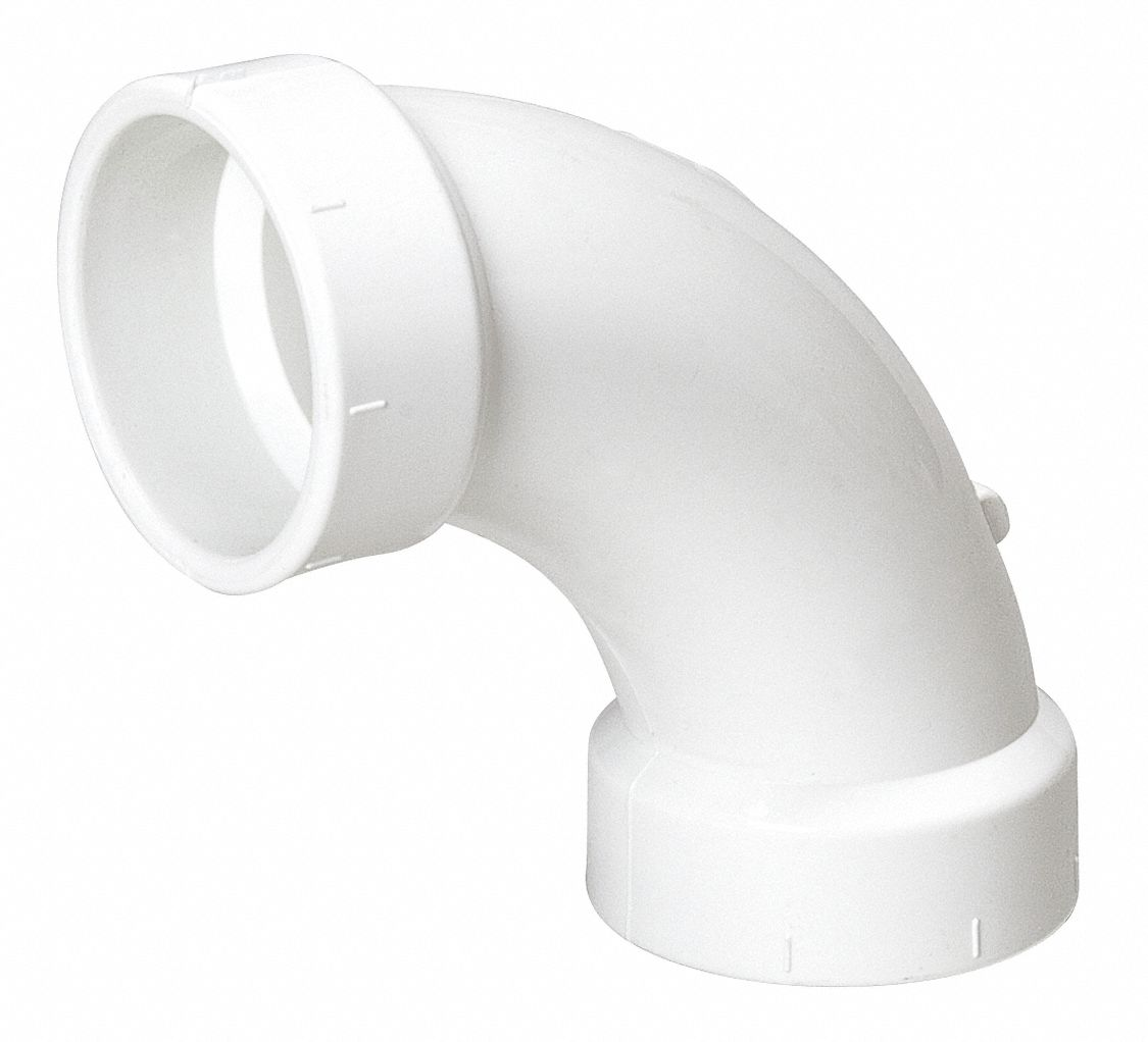 Mueller Industries Pvc Elbow 90 Degrees Long Sweep Hub 4 In Pipe Size Pipe Fitting 1wjz5 1wjz5 Grainger