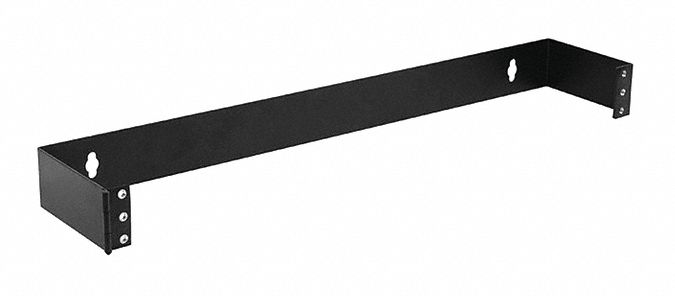 rack bracket wall mount black for use with network racks