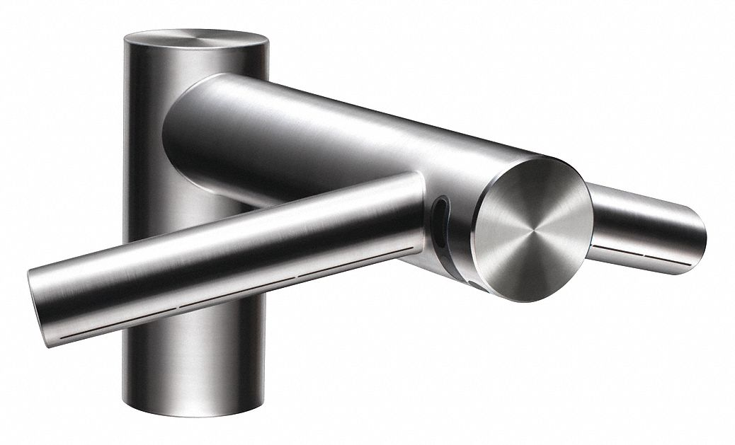 stainless steel integral nozzle automatic hand dryer and faucet