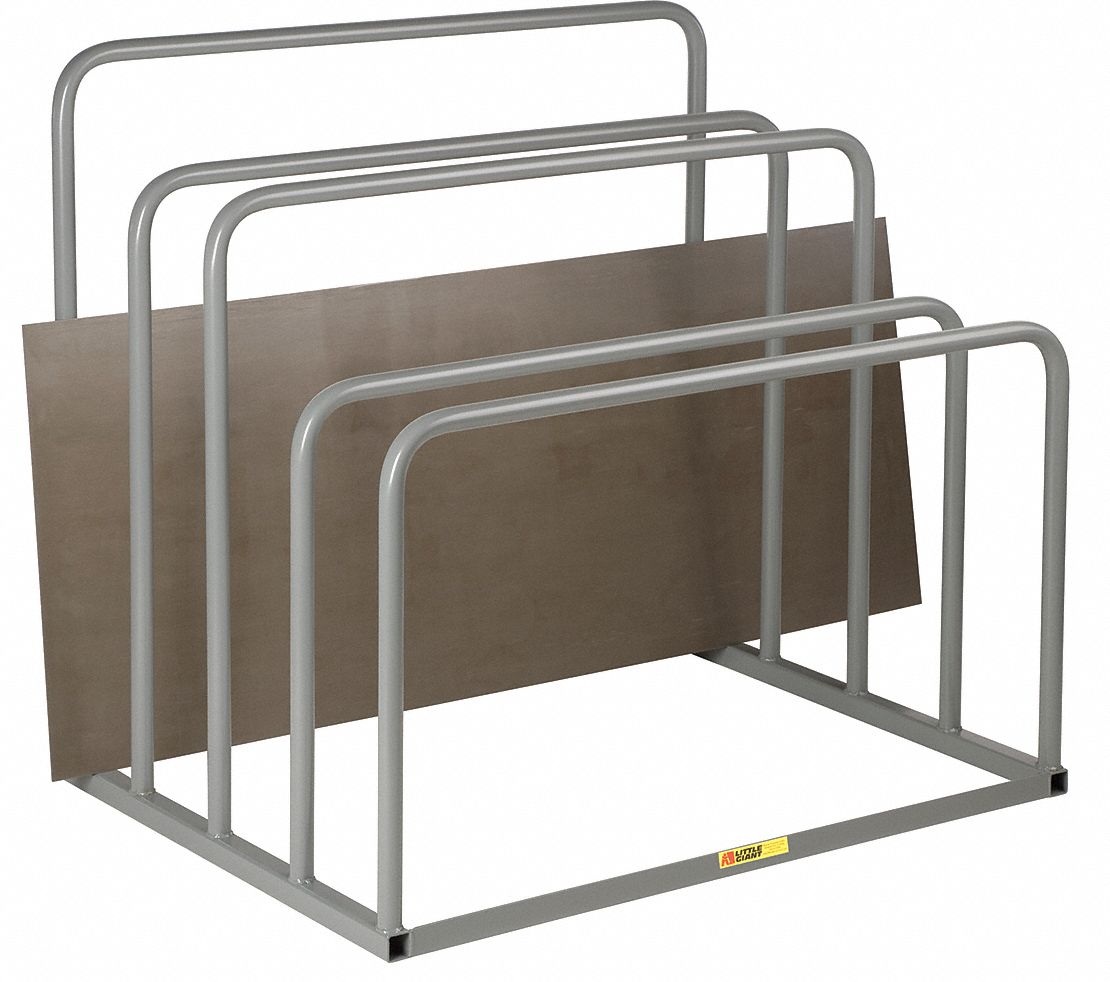 freestanding vertical sheet storage rack decking material none no of shelves 0