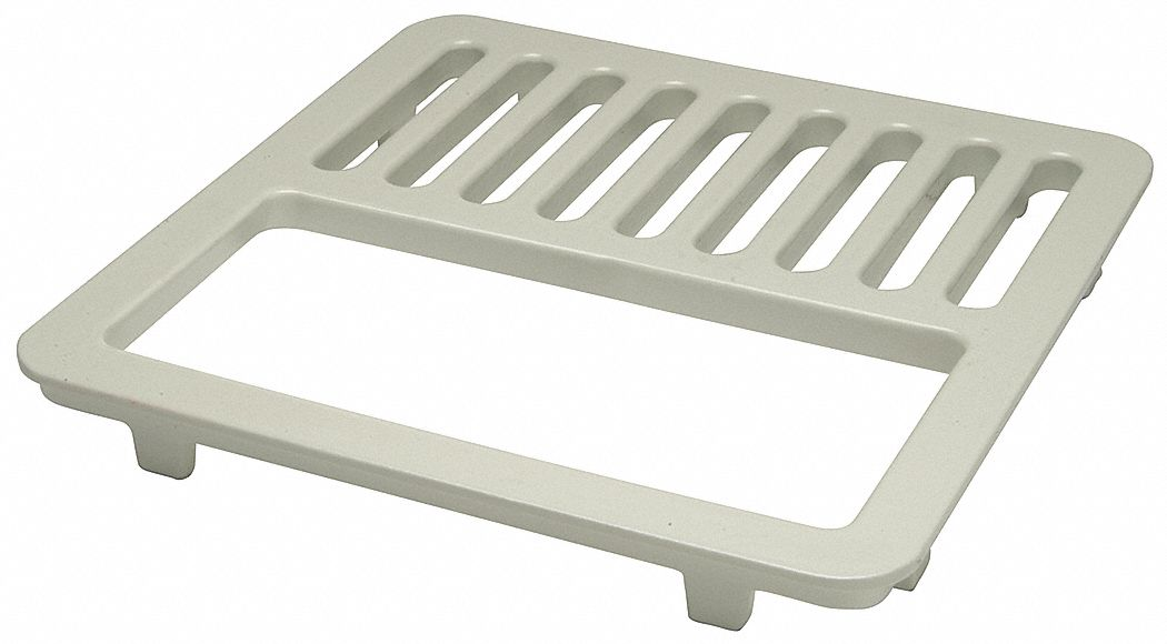 half floor drain grate for use with 8 7 8 in square floor sinks