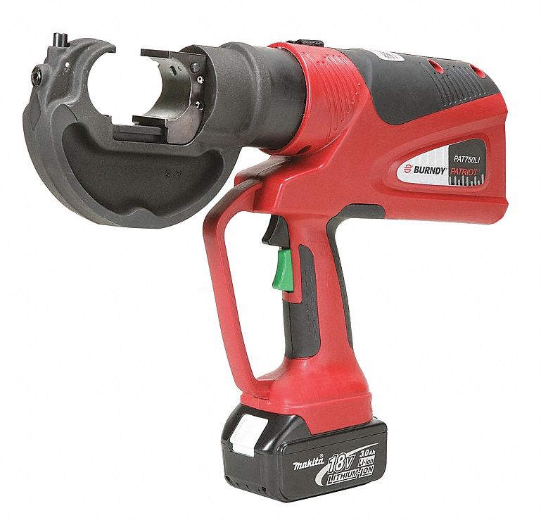 BURNDY Battery Operated Crimping Tool 22P217PAT750LI Grainger