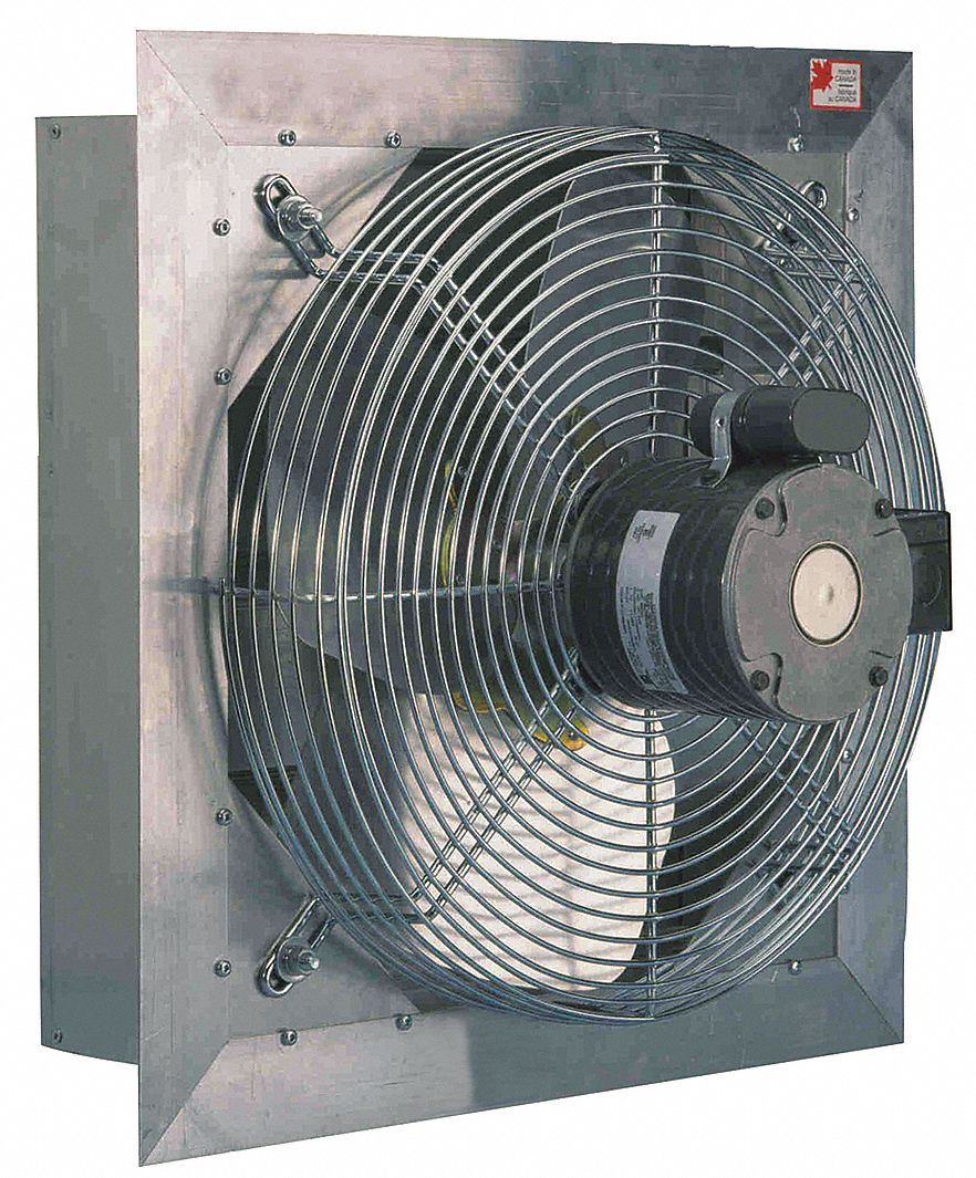 1 2 hp hp 36 in dia 115 230v acv shutter mount exhaust fan 39 in square opening required