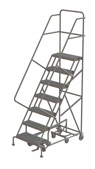 TRI-ARC 7-Step All Direction Ladder, Serrated Step Tread