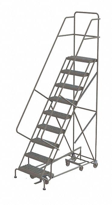 TRI-ARC 9-Step All Direction Ladder, Serrated Step Tread