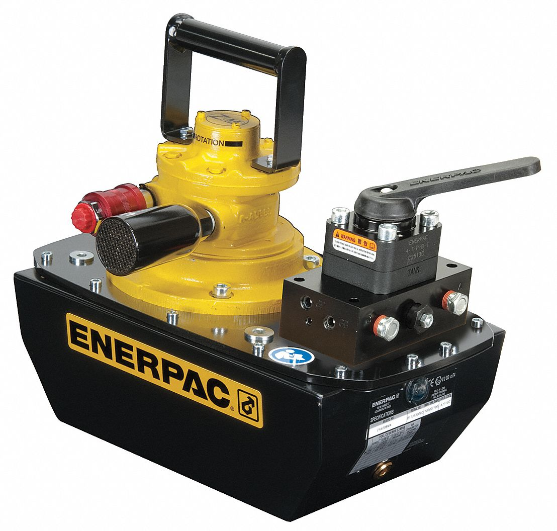 ENERPAC Electric Hydraulic Pump With Manual 3 Way 2 Position Control Valve 26VY29ZU4208MB