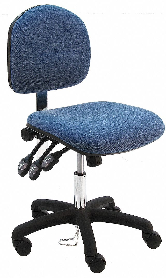 ergonomic chair grainger seat cushion benchpro fabric with 17 to 22 height range and 450 lb weight capacity blue 28ad55 lns df ww