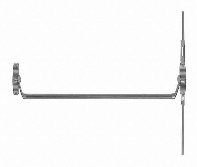 VON DUPRIN Exit Device, Series 55, Satin Chrome, Concealed