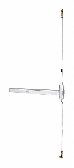 VON DUPRIN Exit Device, Series 99, Satin Chrome, Concealed