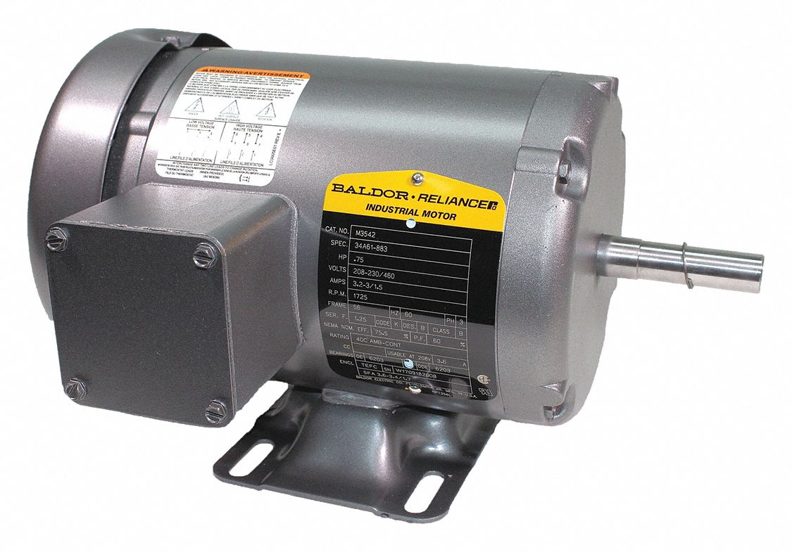 BALDOR ELECTRIC 34 HP General Purpose Motor,3Phase,1725 Nameplate RPM,Voltage 208230460
