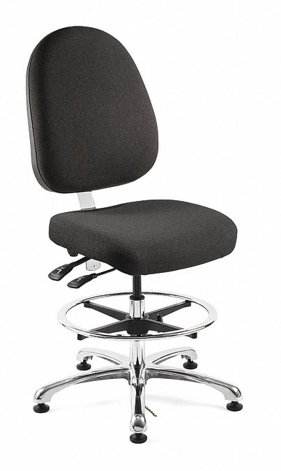 ergonomic chair grainger trial bevco fabric esd task with 19 to 26 1 2 seat