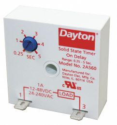 dayton single function encapsulated timing relay 24 to 240vac 12 to 48vdc mounting surface spst no 2a560 2a560 grainger [ 1245 x 1343 Pixel ]