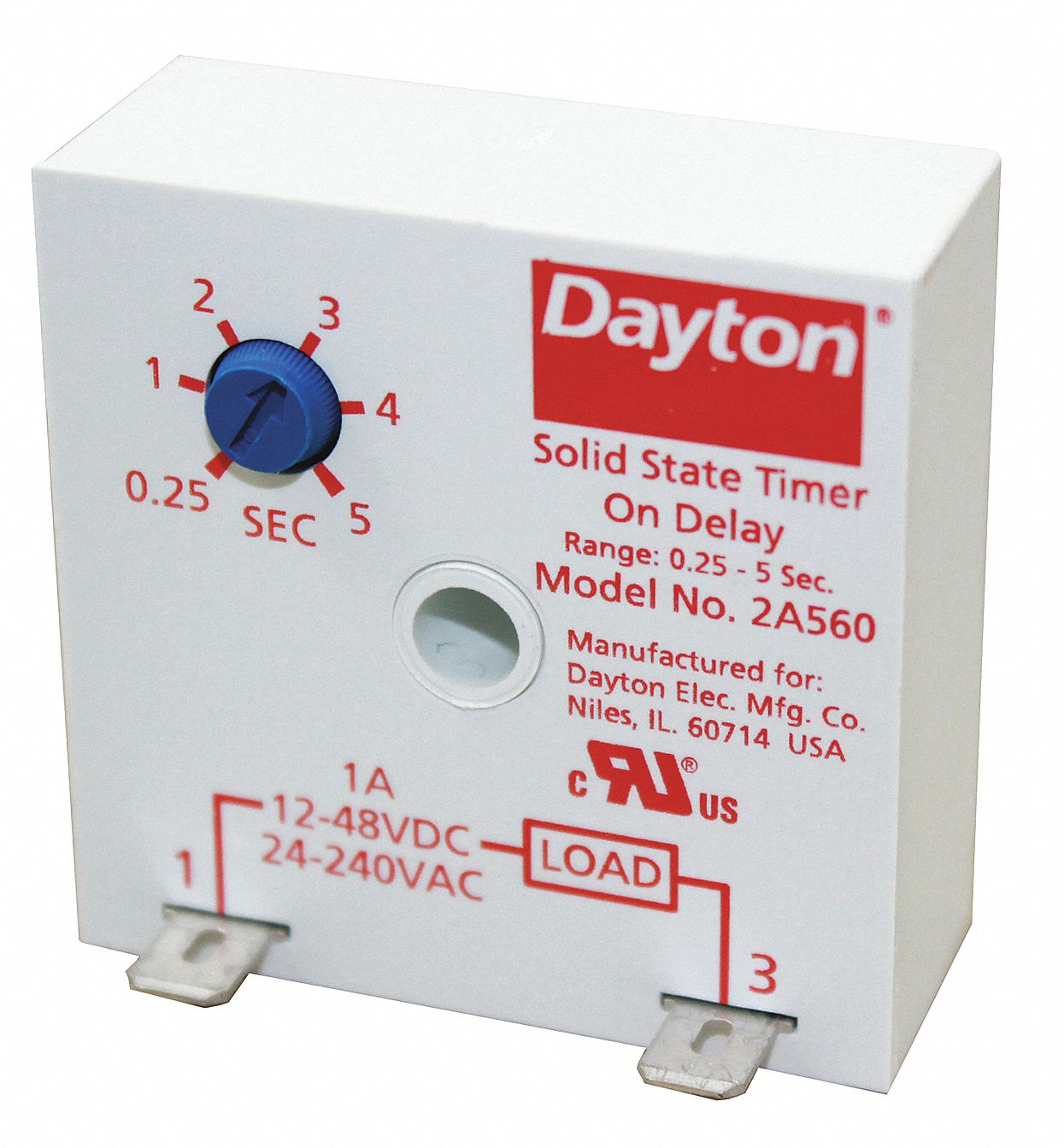 hight resolution of dayton single function encapsulated timing relay 24 to 240vac 12 to 48vdc mounting surface spst no 2a560 2a560 grainger