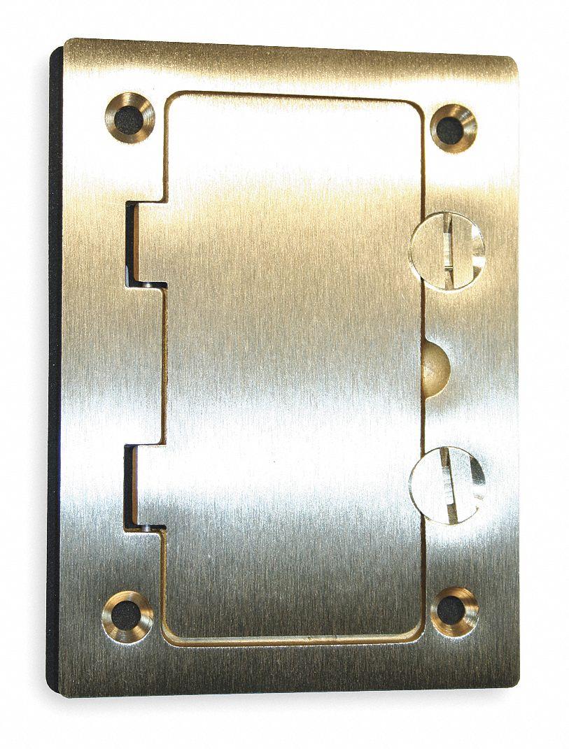 Floor Box Cover Plate : floor, cover, plate, HUBBELL, WIRING, DEVICE-KELLEMS, Floor, Cover,, Rectangular,, Number, Gangs, Length,, 63/64, Width, 2DDX1 S3826, Grainger