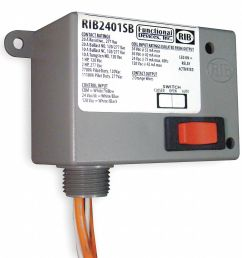 functional devices inc rib prewired relay 24vac dc 120vac 20a 277v spst no 2eta7 rib2401sb grainger [ 1050 x 1014 Pixel ]