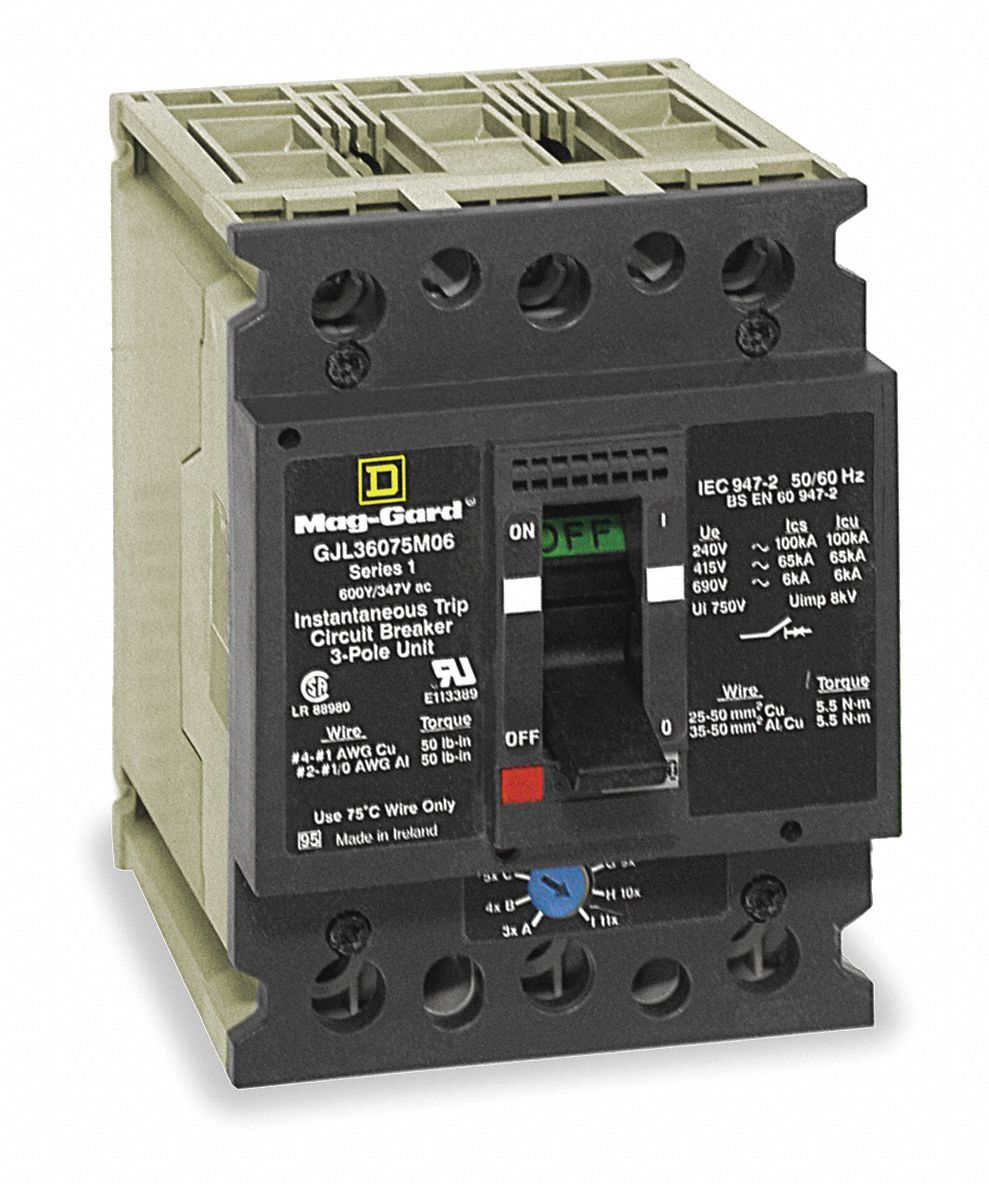 medium resolution of square d circuit breaker 7 amps number of poles 3 347 600vac ac voltage rating 2jwu2 gjl36007m02 grainger