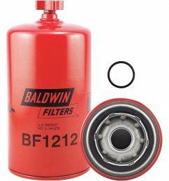 baldwin filters fuel filter spin on filter design 2kxr4 bf1212 grainger [ 988 x 1125 Pixel ]