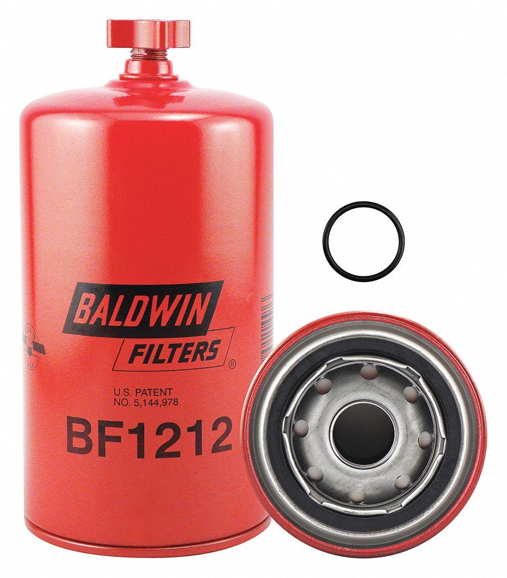 medium resolution of baldwin filters fuel filter spin on filter design 2kxr4 bf1212 grainger