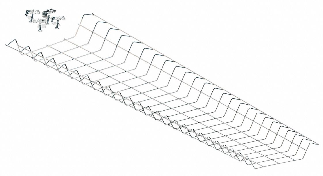 LITHONIA LIGHTING Wire Guard, Steel, White, For Use With