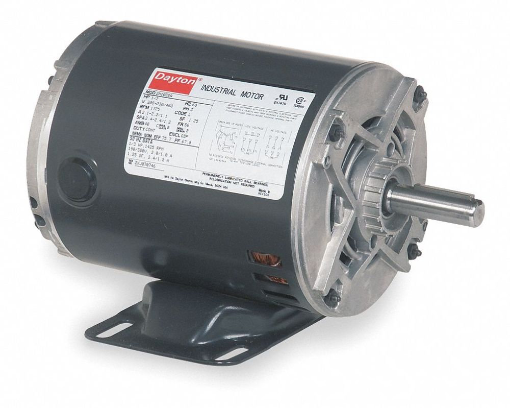 medium resolution of dayton 3 4 hp general purpose motor 3 phase 1725 nameplate rpm 3 phase 480 volt 25 hp motor wiring