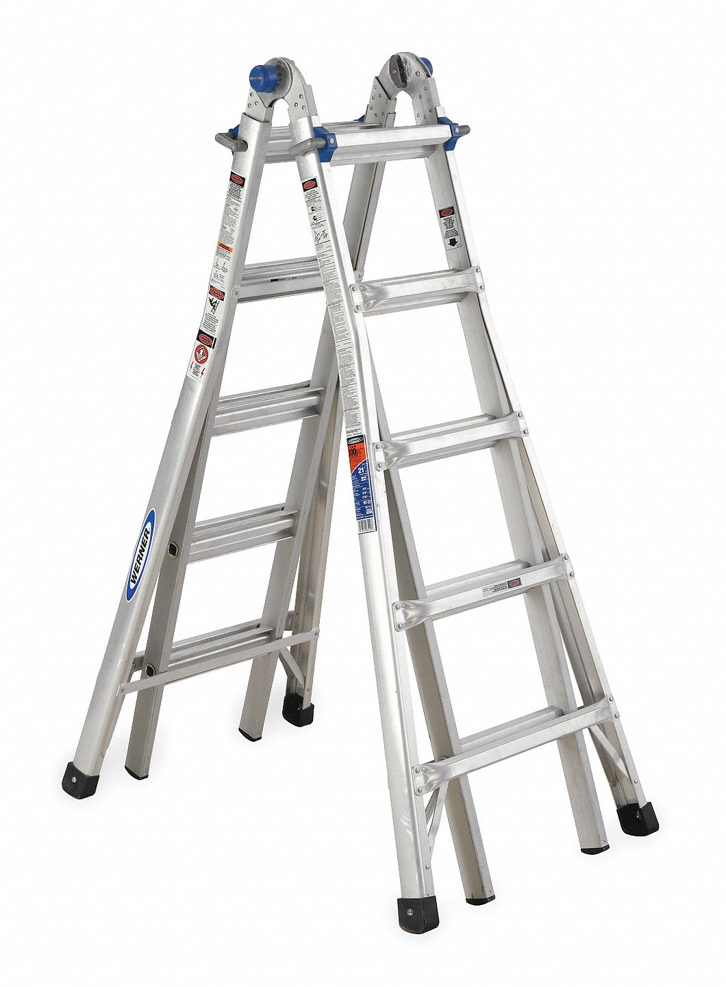 WERNER 22 ft. Aluminum Multipurpose Ladder, 300 lb. Load