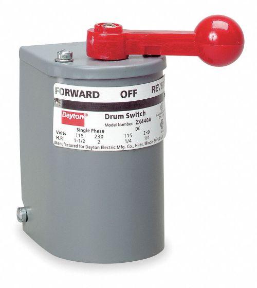 small resolution of dayton maintained reversing plastic drum switch 2 pole nema rating 1 2x440 2x440 grainger