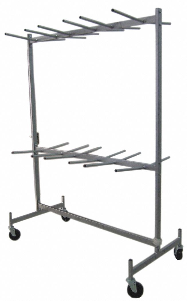 hanging rack for folding chairs 800 lb load capacity for max number of chairs 72