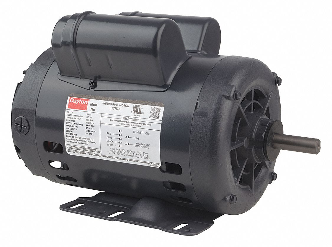 DAYTON 2 HP General Purpose Motor,CapacitorStartRun,3450