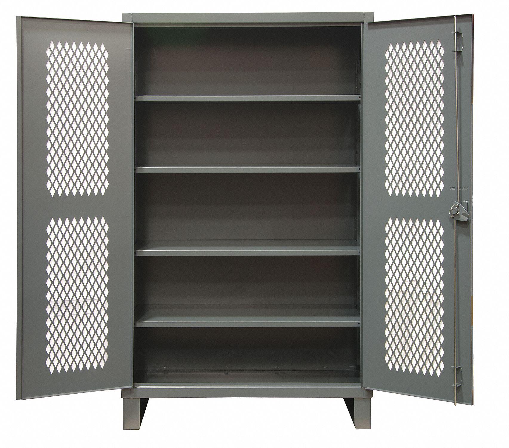 DURHAM Heavy Duty Storage Cabinet Gray 78 H X 36 W X