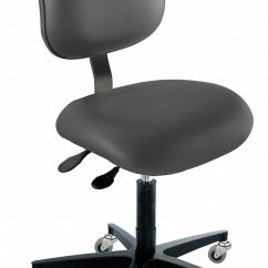 Ergonomic Chair Grainger Covers T Cushion Biofit Vinyl With 17 To 22 Seat Height Range And 300 Lb Weight Capacity Black 36a105 Eec L R Av126