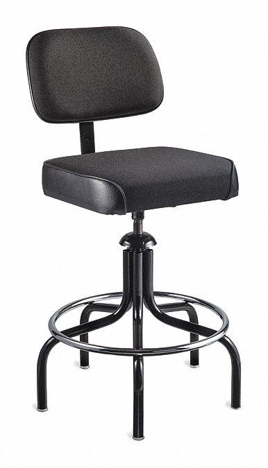 BEVCO Black Vinyl Task Chair 10 Back Height Arm Style