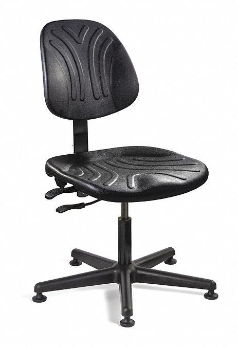BEVCO Black Polyurethane Task Chair 1412 Back Height