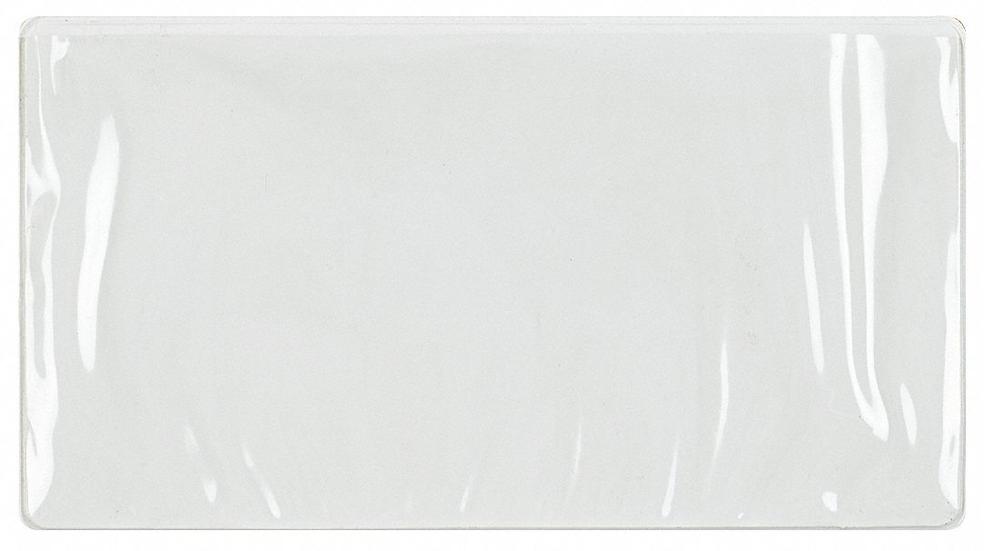 LEWISBINS PVC Label Holder, Clear/White, 7-3/4