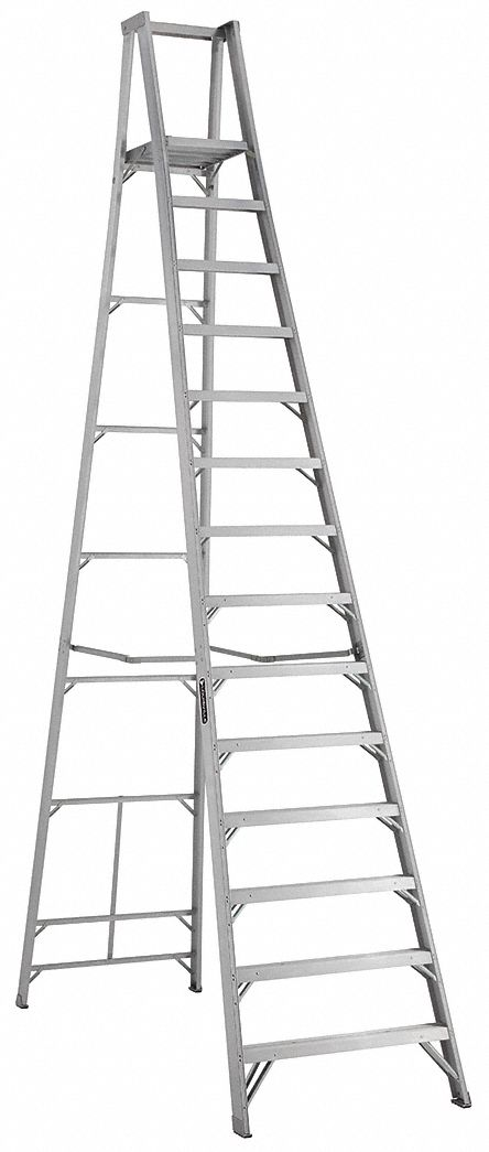 LOUISVILLE Aluminum Platform Stepladder, 15 ft. 3