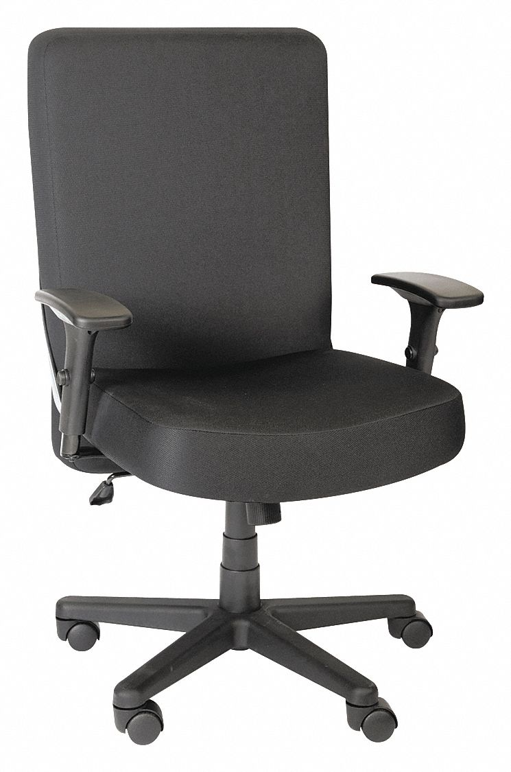 big and tall desk chairs electric chair photos alera black polyester 22 back height arm style adjustable 38eg84 aapcp110 grainger