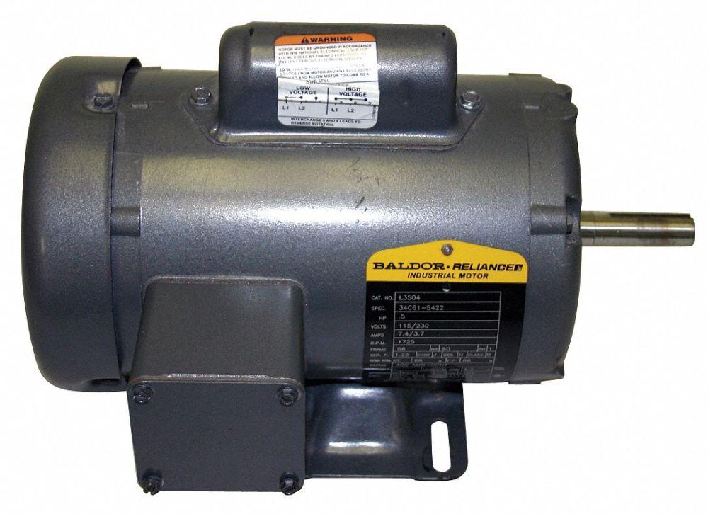 medium resolution of baldor electric 7 1 2 hp general purpose motor capacitor start run 3450 nameplate rpm voltage 230 frame 213t 38g443 l3709t grainger