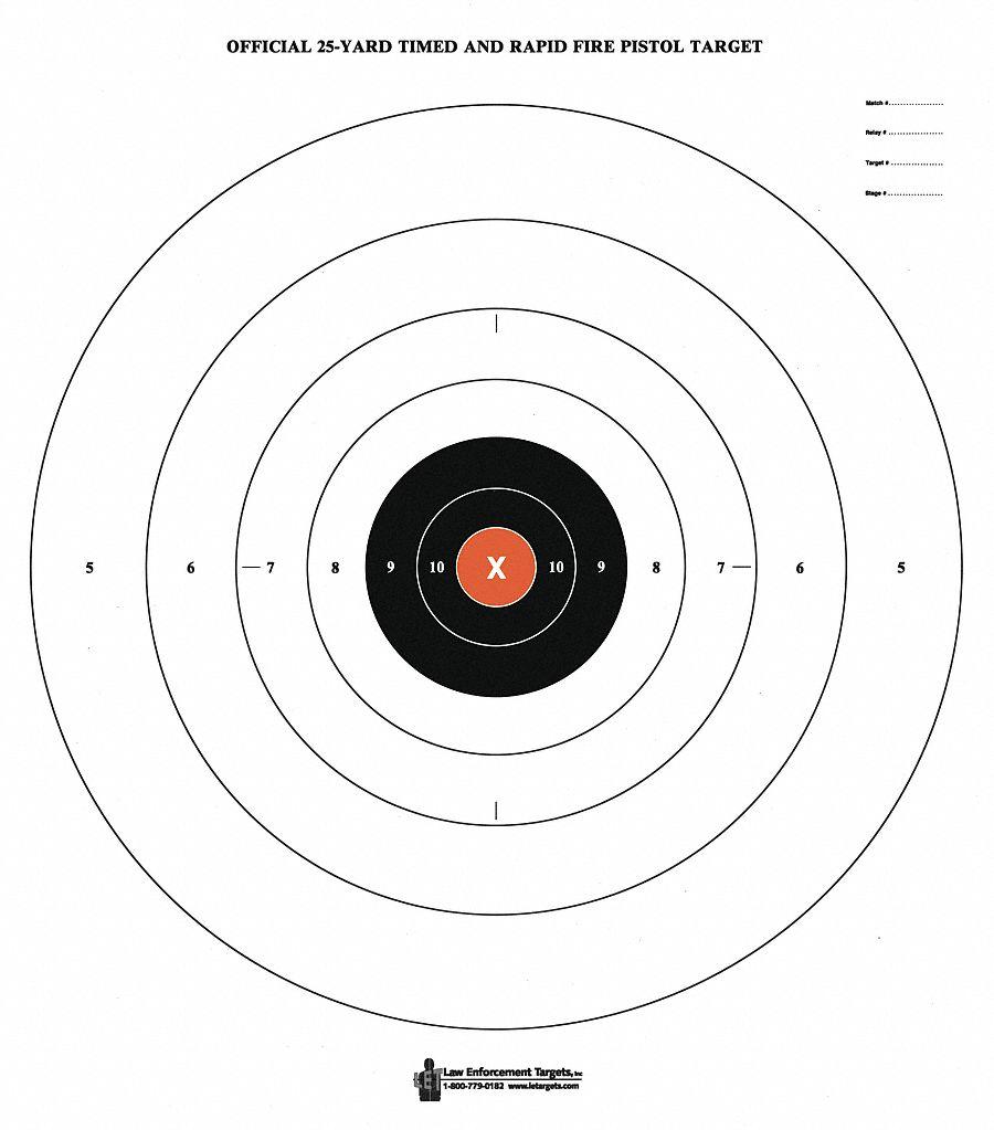 bullseye target with orange
