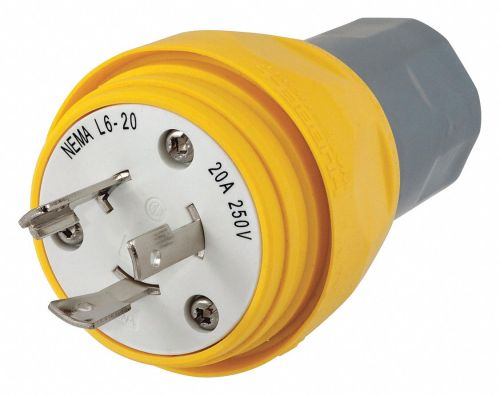small resolution of hubbell wiring device kellems 20a industrial grade non shrouded watertight locking plug yellow nema configuration l6 20p 39aw33 hbl26w48 grainger