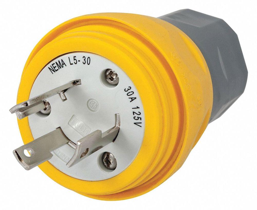 medium resolution of hubbell wiring device kellems 30a industrial grade non shrouded watertight locking plug yellow nema configuration l5 30p 39aw46 hbl28w47 grainger