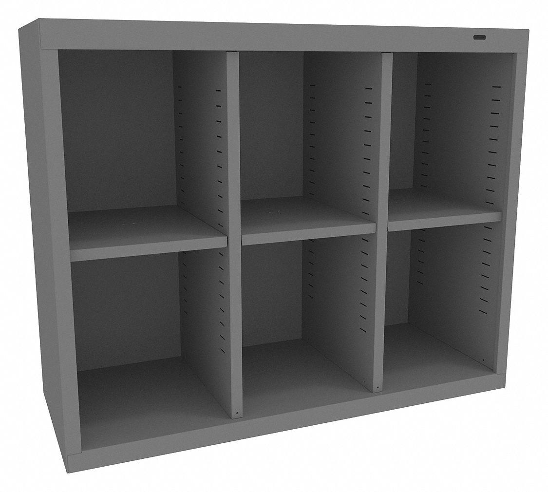 TENNSCO 6Compartment Cubbie Cabinet Medium Gray  39FN92