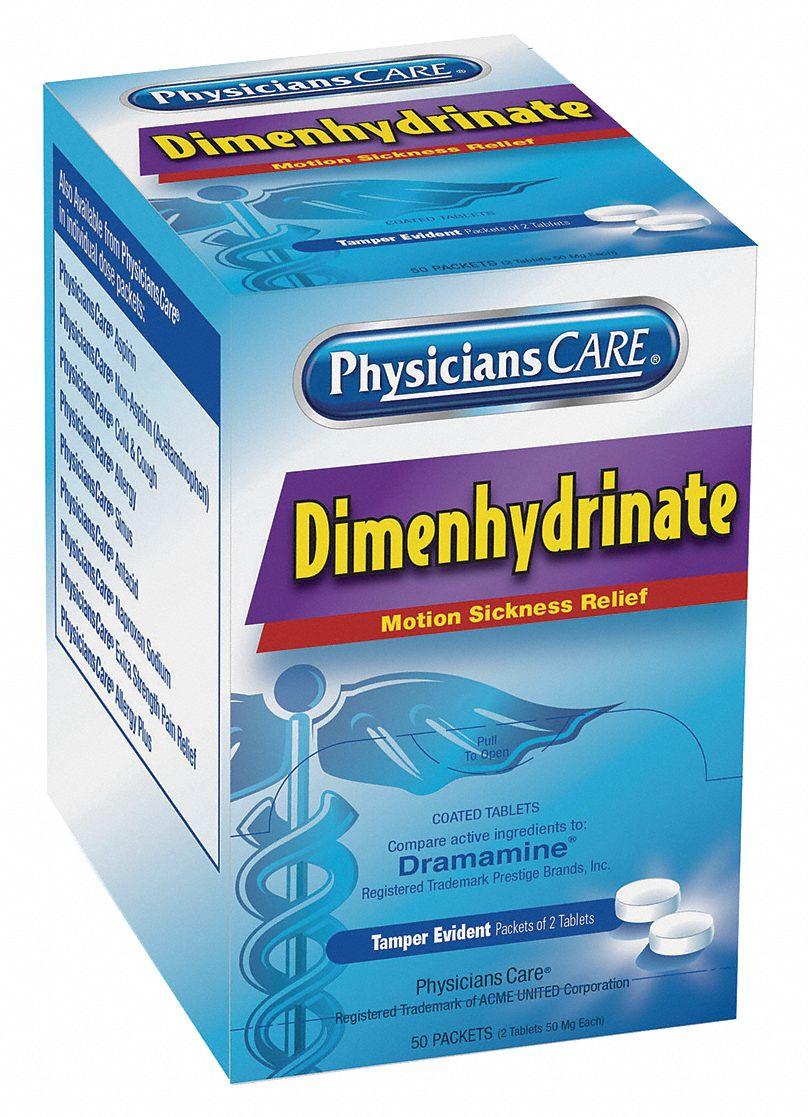 PHYSICIANSCARE Nausea Motion Sickness Tablet PK50 ...