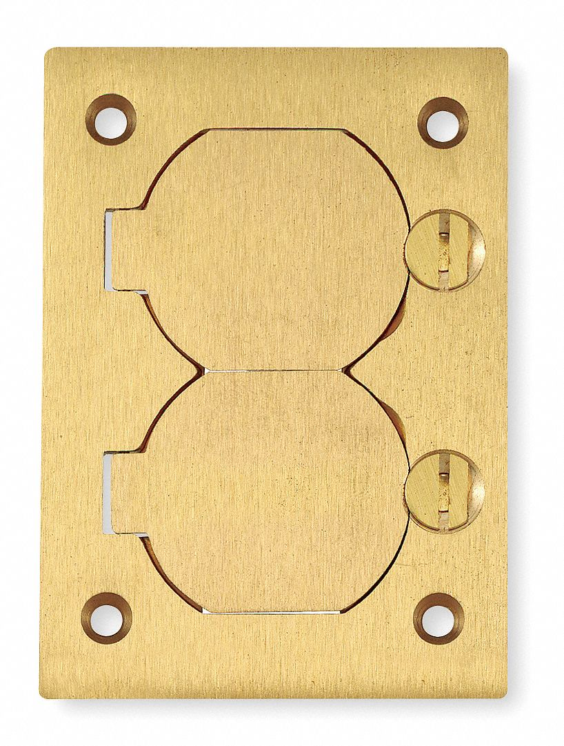HUBBELL WIRING DEVICEKELLEMS Floor Box Cover Brass