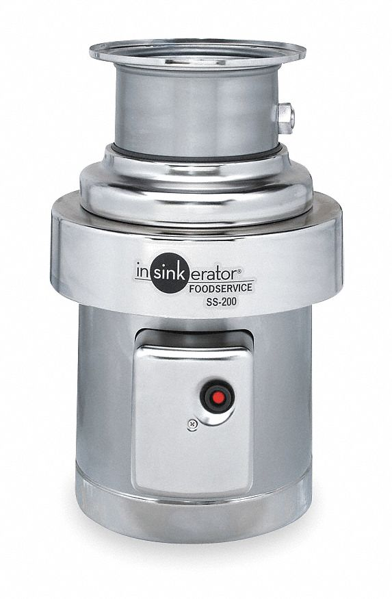 kitchen disposal lighting for in sink erator garbage 2 hp 111 oz grinding chamber capacity 208 230 460 voltage connection drain 3dva2 ss200 35 grainger