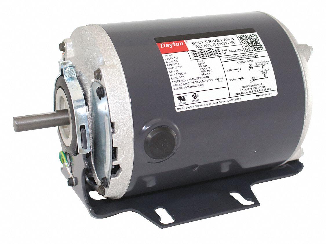 hight resolution of dayton 1 3 hp belt drive motor split phase 1725 nameplate rpm 115 voltage frame 48 3k384 3k384 grainger