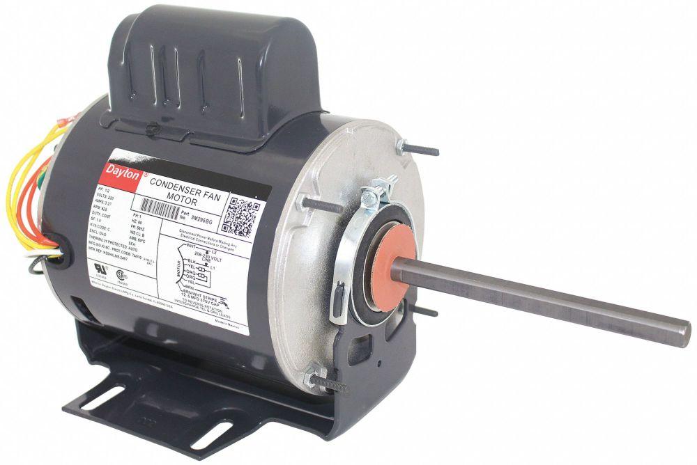 medium resolution of dayton 1 2 hp condenser fan motor permanent split capacitor 825 nameplate rpm 230 voltage frame 56yz 3m295 3m295 grainger