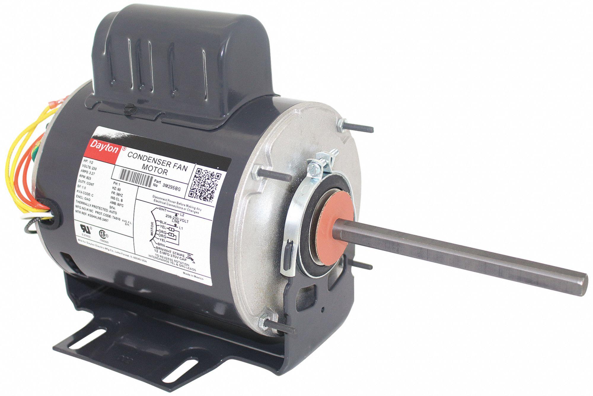 hight resolution of dayton 1 2 hp condenser fan motor permanent split capacitor 825 nameplate rpm 230 voltage frame 56yz 3m295 3m295 grainger