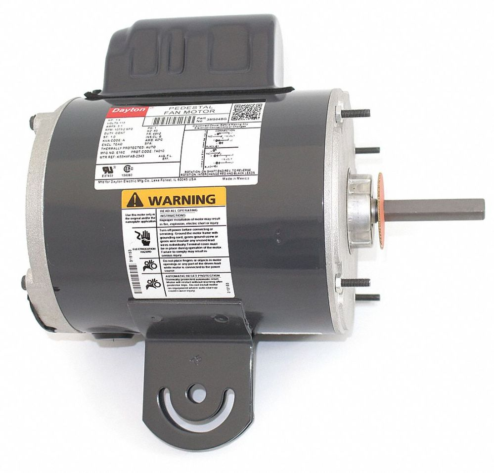 medium resolution of dayton 1 4 hp pedestal fan motor permanent split capacitor 1075 nameplate rpm 115 voltage frame 48yz 3m504 3m504 grainger