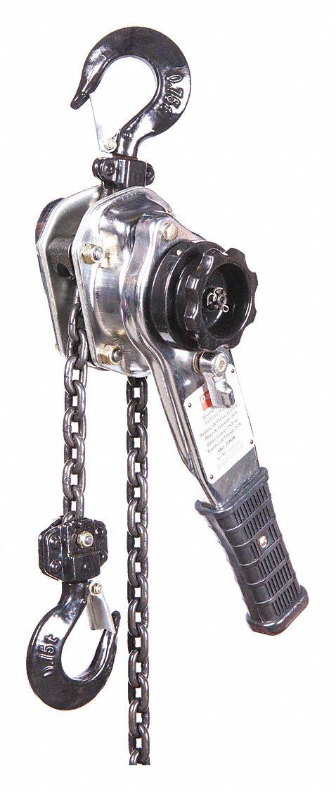 DAYTON Lever Chain Hoist, 1500 lb. Load Capacity, 20 ft