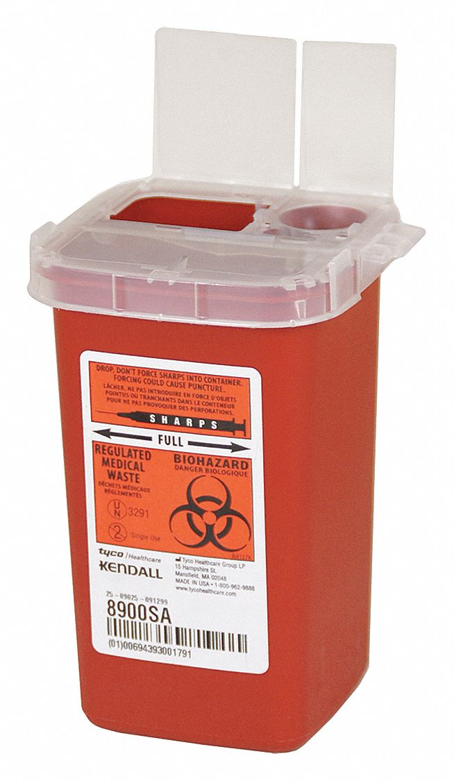 COVIDIEN Sharps Container1/4 Gal.RedPK10 - 3UTE4 ...